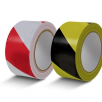 Клейкая лента разметочная 24мм x 33м (желая, черно-желтая)